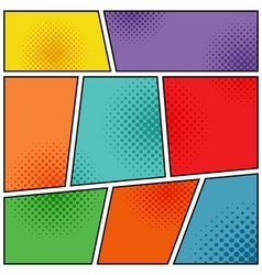 Mock-up of backgrounds for comics book vector image