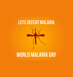 Mosquito background malaria day style vector