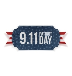 Patriot day 9-11 realistic banner vector