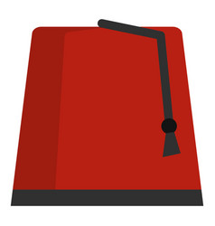 Red turkish fez icon isolated vector