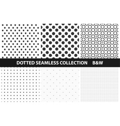 Simple dotted patterns Seamless vector image