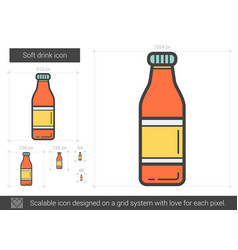 soft drink line icon vector image