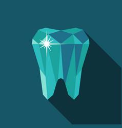 tooth symbol icon vector image vector image