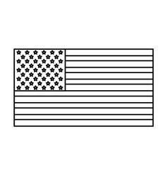 Usa flag united states america flag insignia vector