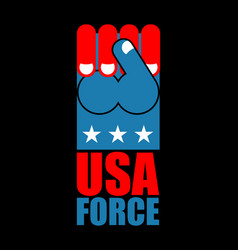 Usa force hand american fist symbol of usa vector