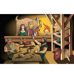 Vikings feast vector image