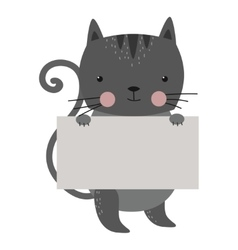 Wild animal cat strike with clean plate board vector