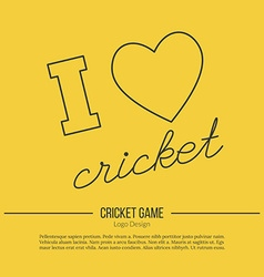 Cricket sport game logotype design concept vector