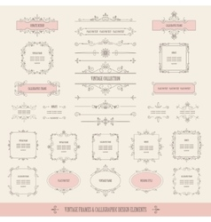 Vintage frames borders labels dividers big set vector
