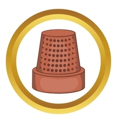 Thimble icon vector