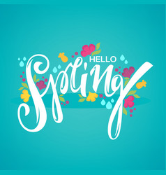 Hello spring template for your new season vector
