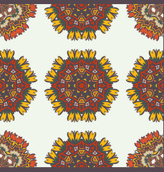 abstract background with ethnic ornament pattern vector image
