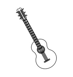 Guitar instrument brazil music melody image vector