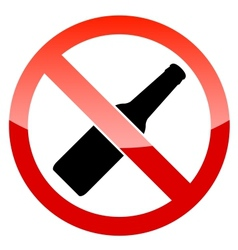 No alcohol sign vector