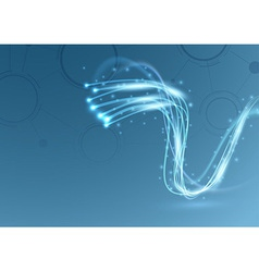 Bright sparkling cable broadband swoosh vector