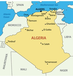 The peoples democratic republic of algeria vector