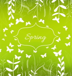 Green spring ornament background vector