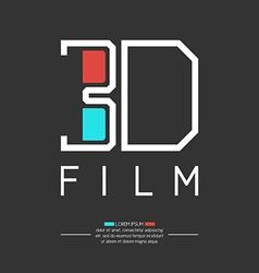 3d filme logo vector
