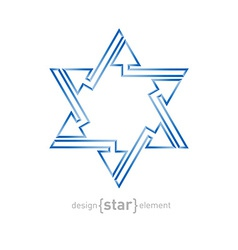 Abstract star of david with arrows on white vector