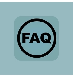 Pale blue faq sign vector