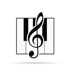 Violin key icon vector