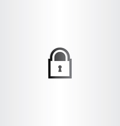 Black lock icon sign vector