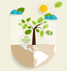 Eco friendly ecology concept with tree vector