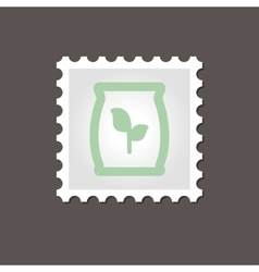 Fertilizer stamp outline vector