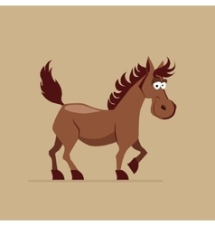Cute smiling horse vector