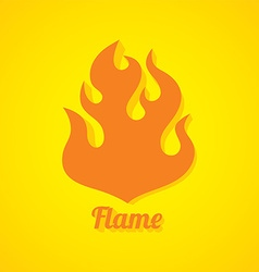 Flaming fire theme vector