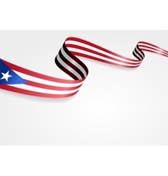 Puerto Rican flag background vector image