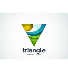 Triangle logo template triple cycle or pyramid vector
