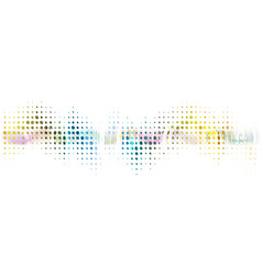 abstract technological dotted sound wave vector image vector image