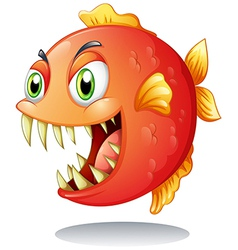 An orange piranha vector image