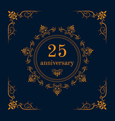 Anniversary celebration card vector