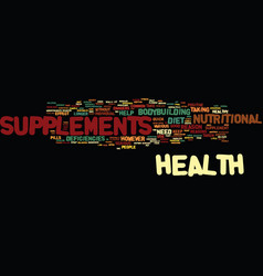 Are the health supplements safe text background vector