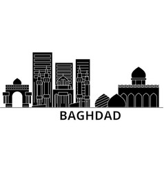 Baghdad architecture city skyline travel vector