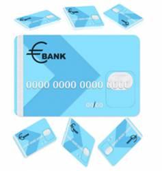 Bank card vector
