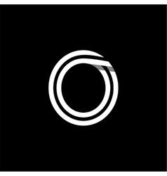 Capital letter o logo monogram emblem vector