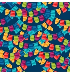 Celebration holiday seamless pattern with garland vector image