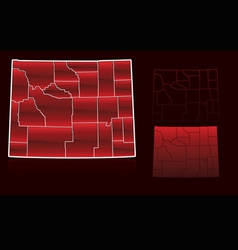 counties of wyoming vector image