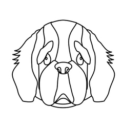 dog breed icon image vector image