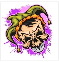 Evil scary clown halloween monster joker vector