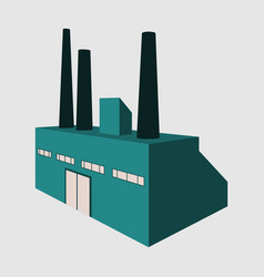 factory building icon set in the flat style vector image vector image