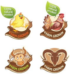 Farm animals banners vector image