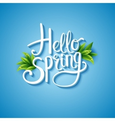 Fresh blue Hello Spring background vector image