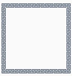 Greeke decorative frame for design vector image