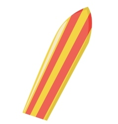 Modern colorful surfboard vector image