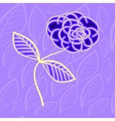 neon flower vector image