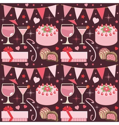 pink party pattern vector image vector image